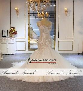 Image 3 - Amanda Novias mermaid wedding gown special lace beading bridal dress