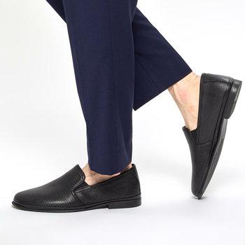 FLO 91 100550 M czarne męskie klasyczne buty Polaris 5 Point tanie i dobre opinie Polaris 5 Nokta Sztuczna skóra