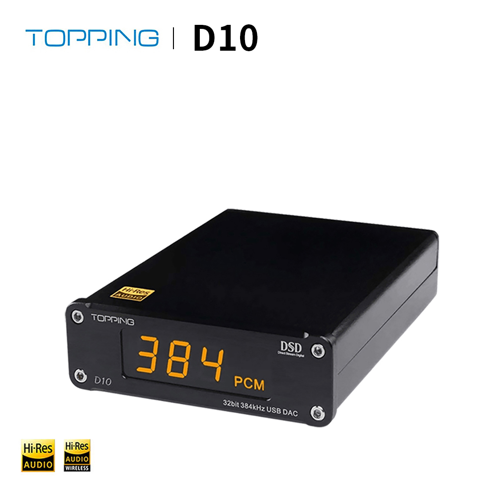 TOPPING D10 Decoder DSD ES9018K2M USB DAC Audio Portable Digital Decoder