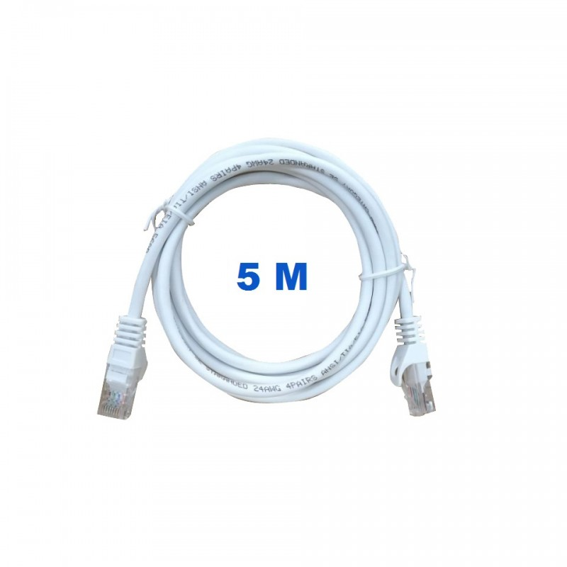 UTP Cord 5 Meters Poke With RJ45 Connectors Category 5E