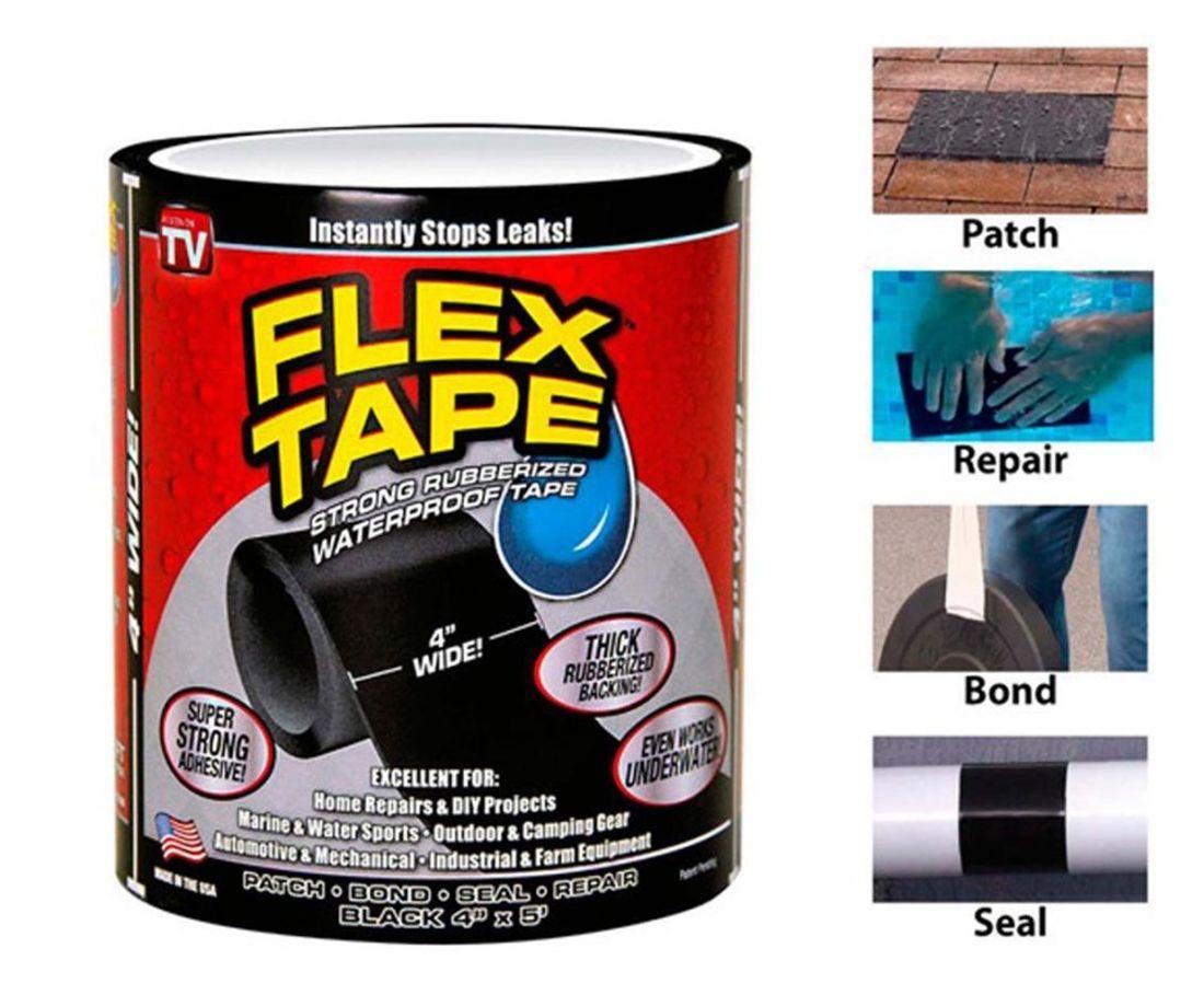Сверхпрочная водонепроницаемая лента FLEX TAPE для ремонта протечек