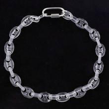 Fish sheep – collier en acrylique pour hommes, chaîne en résine transparente, nez de cochon, pendentif ras du cou
