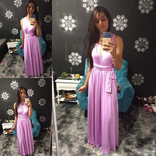 Sexy Women Multiway Wrap Convertible Boho Maxi Club Red Dress Bandage Long Dress Party Bridesmaids Infinity Robe Longue Femme photo review