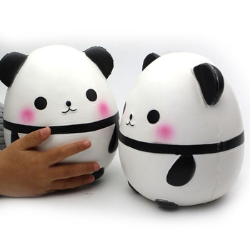 Kawaii Large Panda Egg Slow Rising Simulation Animal Squishy Toy Anti Stress Reliever Soft Squeeze Xmas Gift Toys kawaii donald duck squishy slow rising simulation cartoon doll soft scented squeeze toys stress relief for kid xmas gift toy