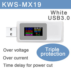 10 in 1 DC Type-C USB 테스터 전류 4-30V 전압계 타이밍 전류계 디지털 모니터 컷오프 전원 표시기 은행 충전기