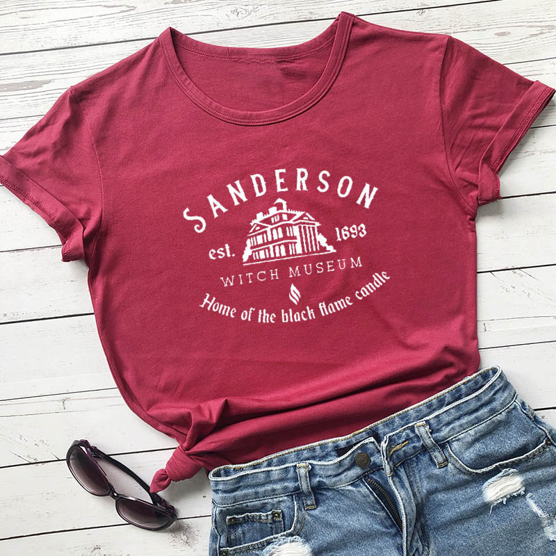 <font><b>Sanderson</b></font> Witch Museum Graphic Printed New Arrival Unisex Summer Funny 100%Cotton T-<font><b>Shirt</b></font> Halloween <font><b>Shirt</b></font> Hocus Pocus <font><b>Shirt</b></font> image