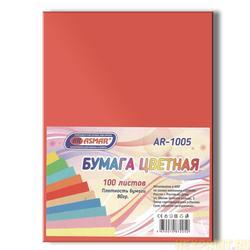 Papier couleur double face teinté A4 100 feuilles (couleur-rouge)