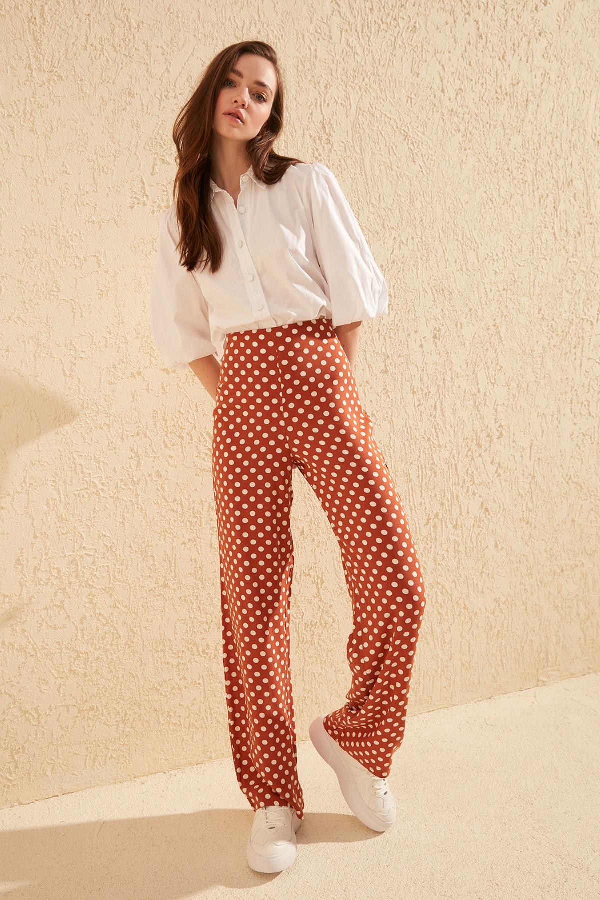 Trendyol Polka Dot Pants TWOSS20PL0027