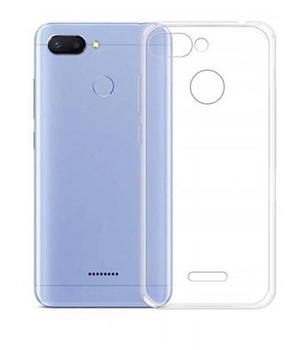 Funda de gel TPU carcasa silicona para movil Xiaomi Redmi 6 Transparente