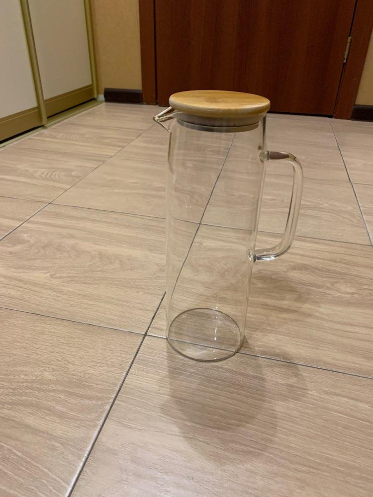 Cold Glass Water Bottle Jar Kettle Transparent Large apacity Heat Resistant Water Pot with Handle Teapot Pitchers  1.2L 1.5L|Water Bottles|   - AliExpress