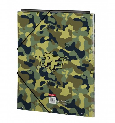 WALLET FOLIO 3 LAPELS PAUL FRANK CAMO