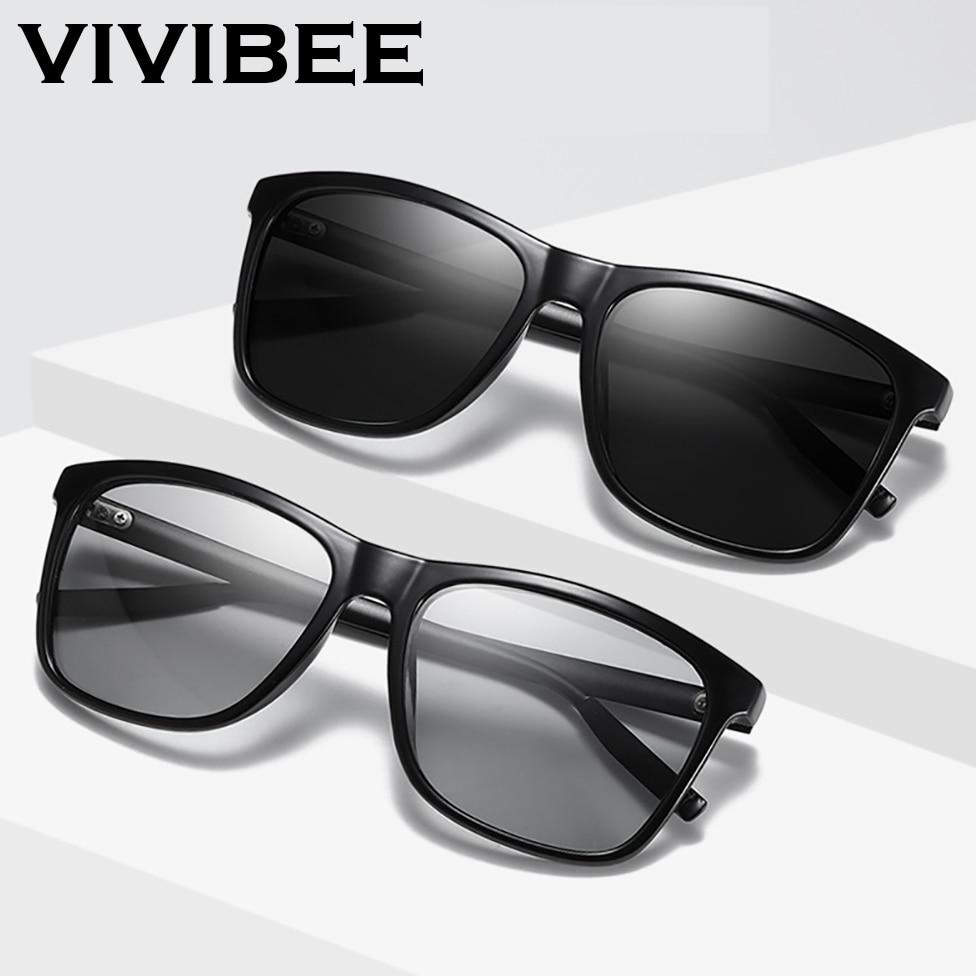2020 Polarized Photochromic Men Sunglasses Square Women Color Change Sun Glasses Classic  UV400 Chameleon Eyewear