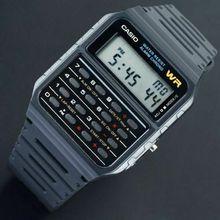 Оптическими зумом CASIO Мужские часы CA-53W многофункциональный калькулятор с оптическими зумом CASIO калькулятор мужские часы резинкой