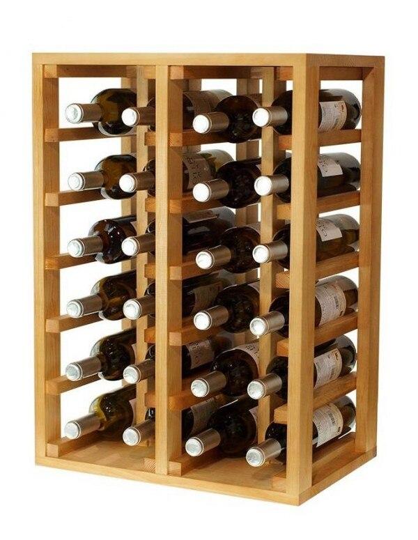 Botellero Clásico 24 Botellas En Pino