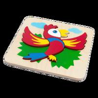 Wooden puzzles 5 pieces, 3D puzzle, children toy, wooden puzzles for children educational puzzle, painting handmade