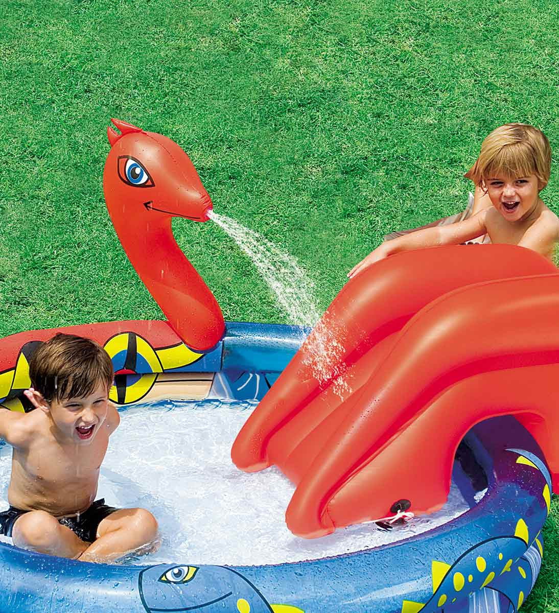 Bestway Inflatable Pool Child With Slide Viking-53033
