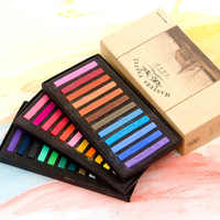 Акварельные краски в наборе 12 24 36 48 цветов мелки мягкие сухие пастельные граффити краски для рисования акварельные бумажные товары для руко...