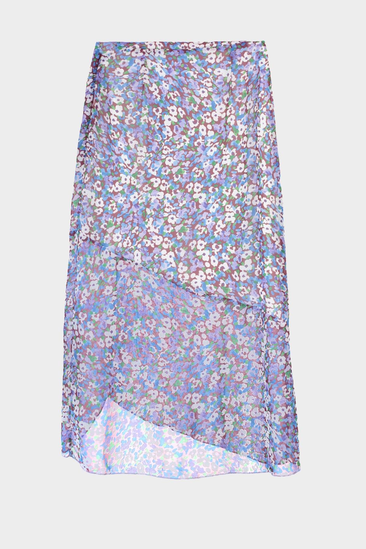 Trendyol Black Pattern Tulle Detailed Skirt TWOSS20ET0253