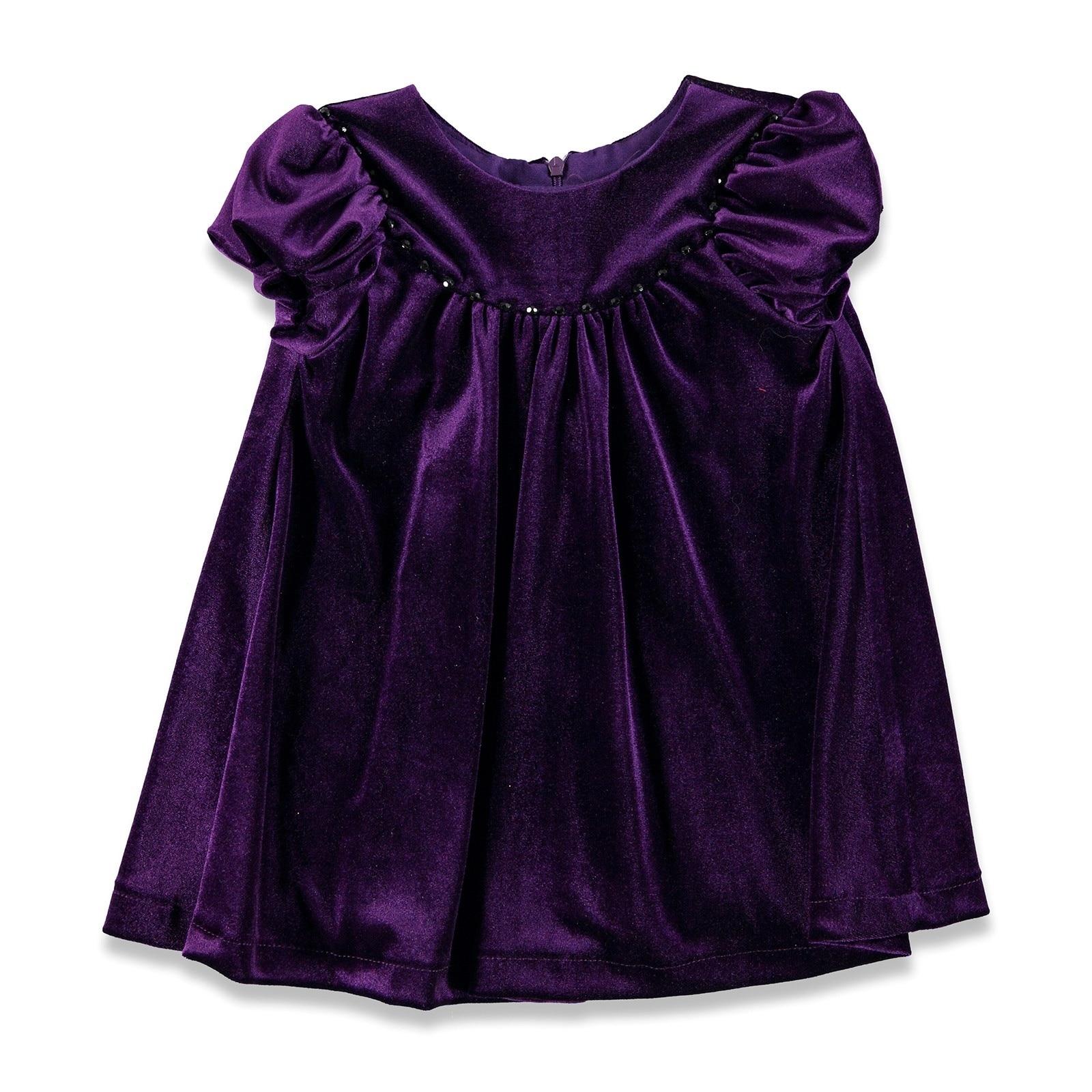 Ebebek ChatonDor Velvet Baby Girl Dress