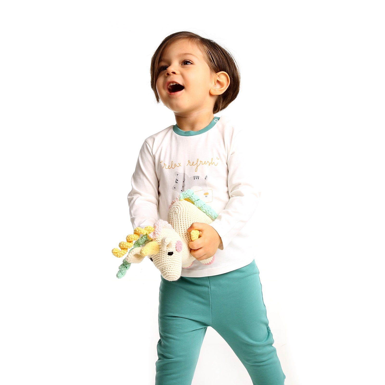 Ebebek Bebbek Summer Baby Boy Relax Sweatshirt Pant 2 Pcs Set