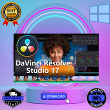 DaVinci Resolve Studio 17 - 2021, Version completed, verser Windows  , correction des couleurs, effets visuels ..