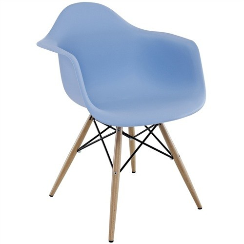 Armchair TOWER PP, Wood, Polypropylene Blue