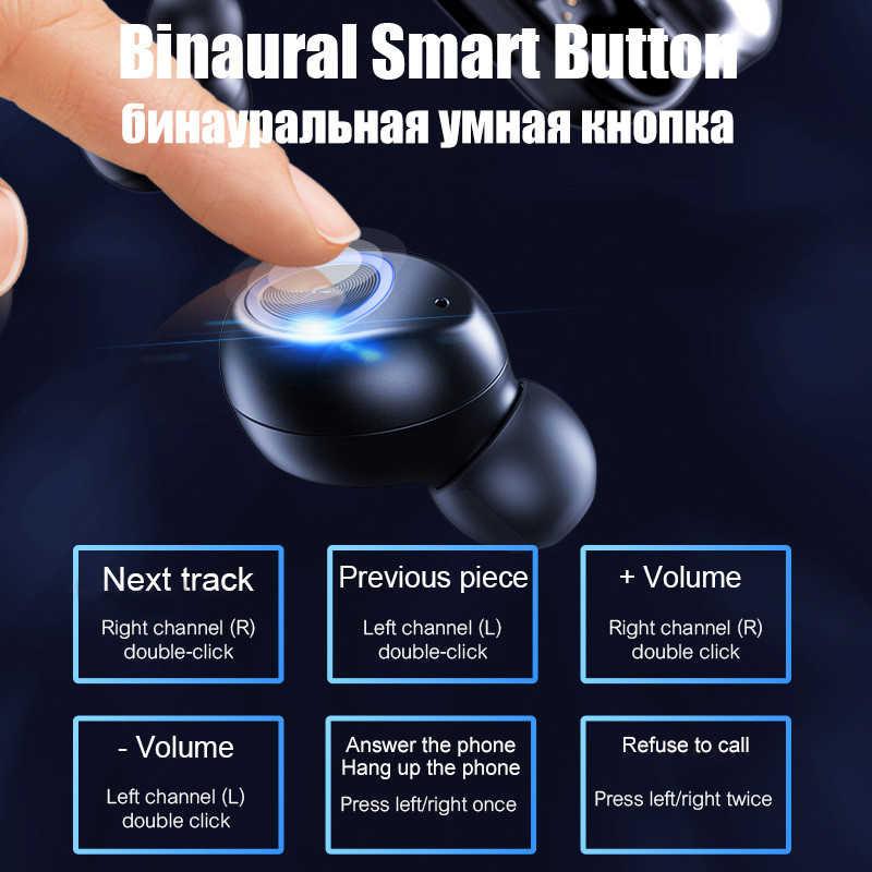 V10 Pro Bluetooth 5.0 kulaklık Mini kablosuz mikrofonlu kulaklıklar gürültü iptal spor kulaklık kulaklıklar iOS Android