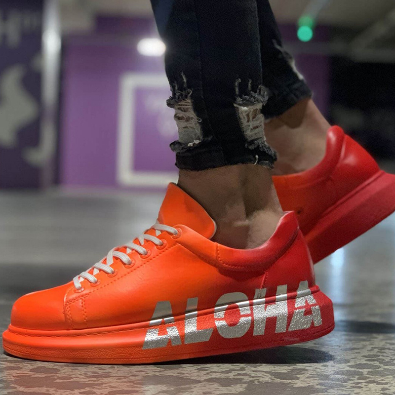 Sneakers For Men Sneakers Comfortable Flexible Fashion Style Leather Wedding Orthopedic Walking Shoe Sport Shoes For Men Comfort Unisex Lightweight Lightweight Sneakers Running Shoes Breathable Zapatos Hombre CH254