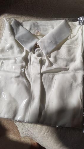 Silk Shirts Women White Shirt Women Long Sleeve Shirts Blouse Office Lady Satin Silk Blouse Tops Plus Size Woman Basic Shirt Top photo review
