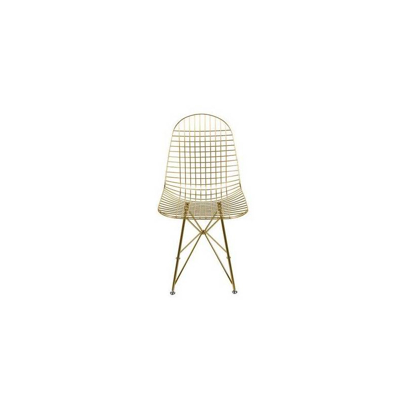 Dining Chair Metalic Angle (46x86x49 Cm)