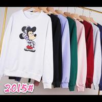 Hoodies women casual autumn and winter women's sweatshirt long sleeve print Mickey Mouse
