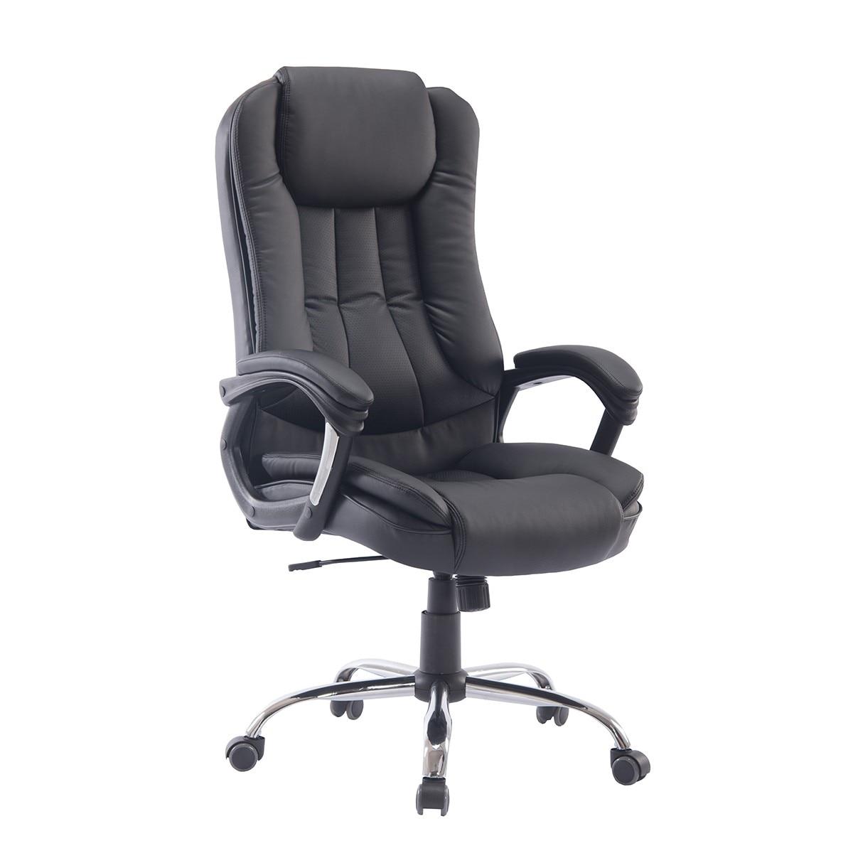 Office Armchair DRESDEN, High, Gas, Tilt, Similpiel Black