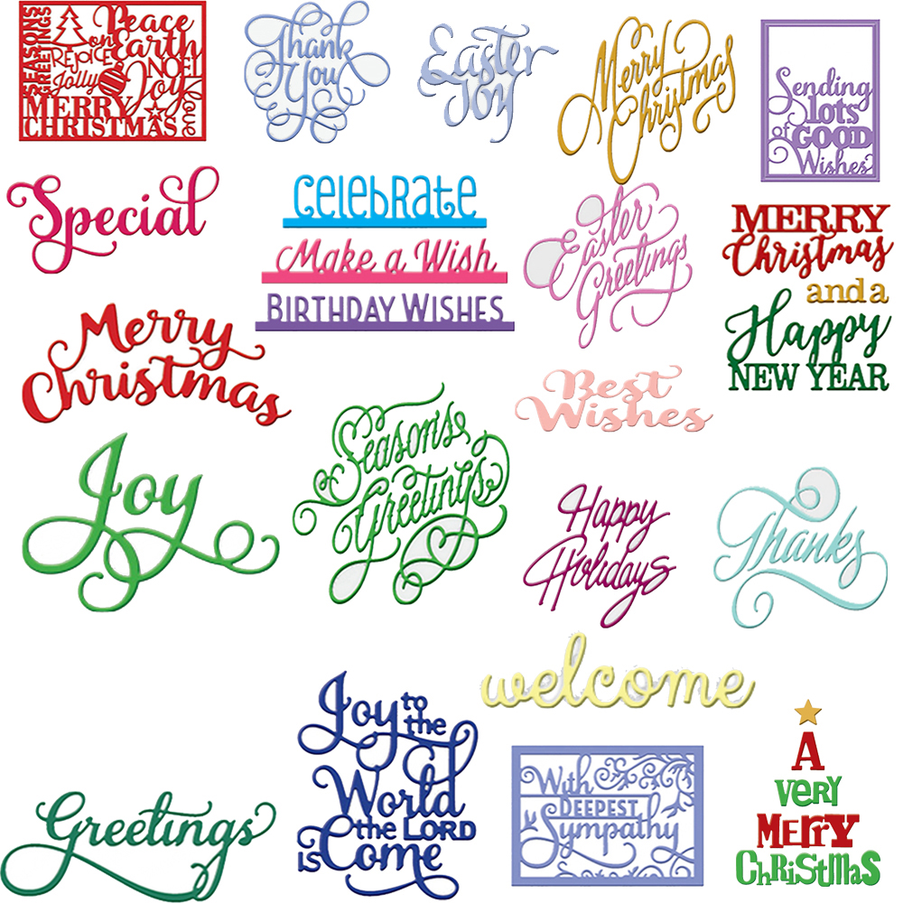 Happy Birthday Letter Metal Cutting Dies Stencil Handcrafts Gift Card Embossing