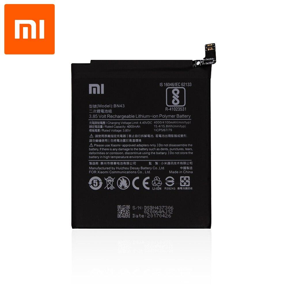 Оригинальный аккумулятор для смартфона Xiaomi Redmi Note 4X (ASIA) / Note 4 Global (EU) (3,8 V, 4000 mAh, BN43)