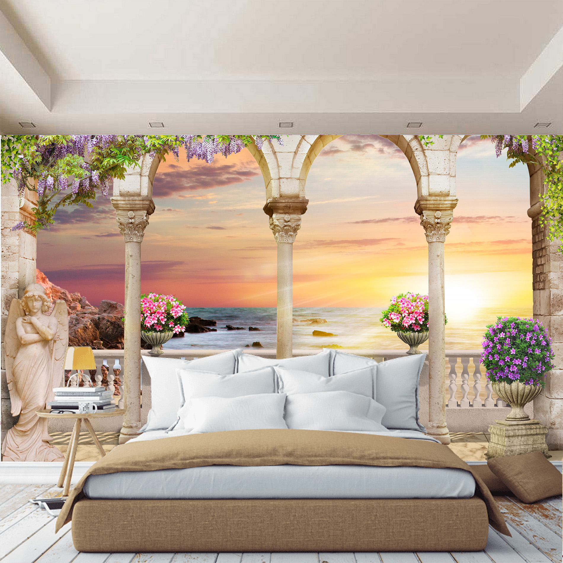 Murals columns 3D wall mural, wallpaper for hall, kitchen, bedroom, murals expanding space image