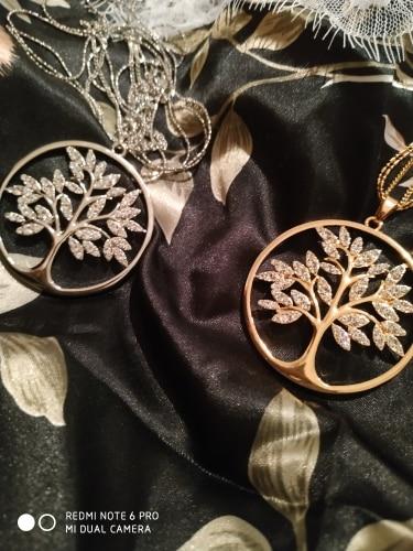 Pendentif l'arbre de vie en Or en swarovski 3 couleurs
