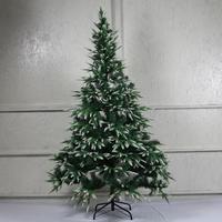 Árbol de Navidad artificial de Año Nuevo abeto con puntas cubiertas de nieve, ramas de abeto cubierto de nieve 120/150/180/210