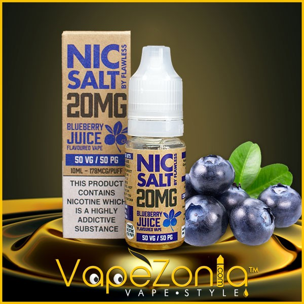 Nic Salt Flawless BLUEBERRY JUICE 10 Ml