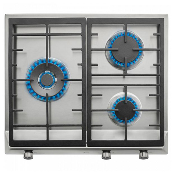 Gas Hob Teka EX60.1 3G 60 Cm 60 Cm Stainless Steel Black (3 Stoves)