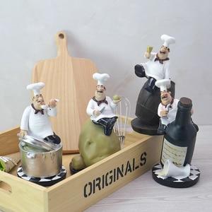Image 5 - Strongwellレトロシェフモデルの装飾品樹脂工芸シェフ置物白トップ帽子調理ホームキッチンレストランの装飾