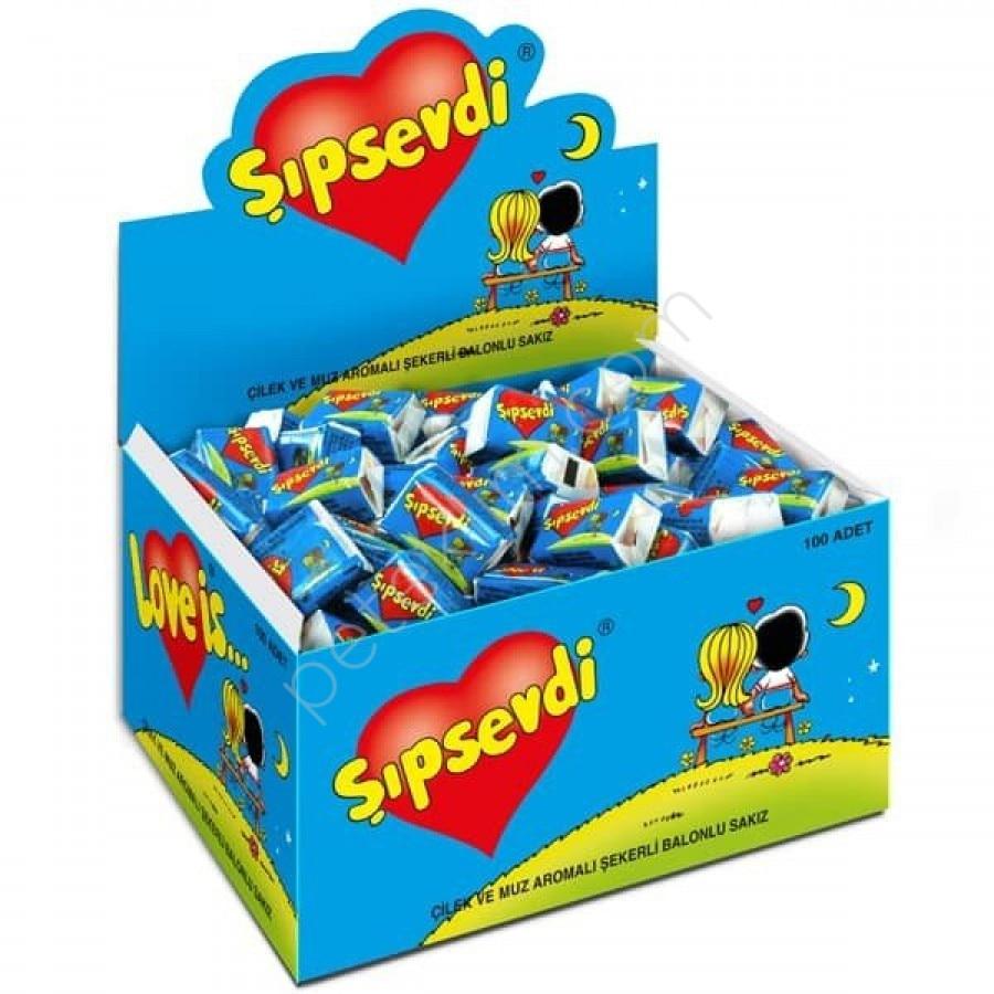 Любовь это жевательная резинка с изображением клубники, банана подарок на день Святого Валентина 1 коробка