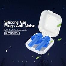 1 3 5 pçs nova espiral sólido silicone tampões de ouvido sono anti-ruído ronco earplugues cancelamento de ruído para dormir redução de ruído
