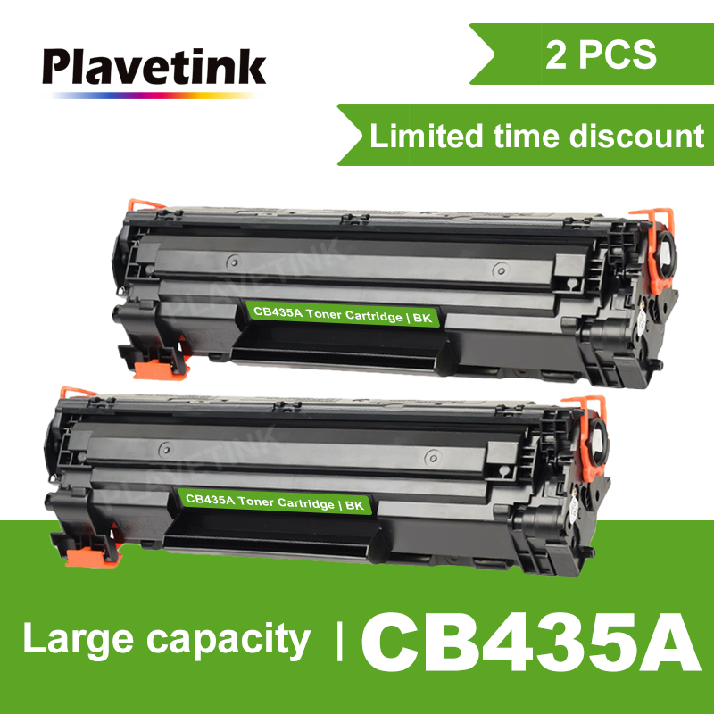 Plavetink 2pcs CB435A 435A 35A <font><b>Toner</b></font> Cartridge for <font><b>HP</b></font> LaserJet P1002 P1003 P1004 P1005 <font><b>P1006</b></font> P1009 Printer Black <font><b>Toner</b></font> Cartridge image