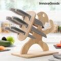 Набор ножей с деревянной основой Спартан InnovaGoods 7 штук