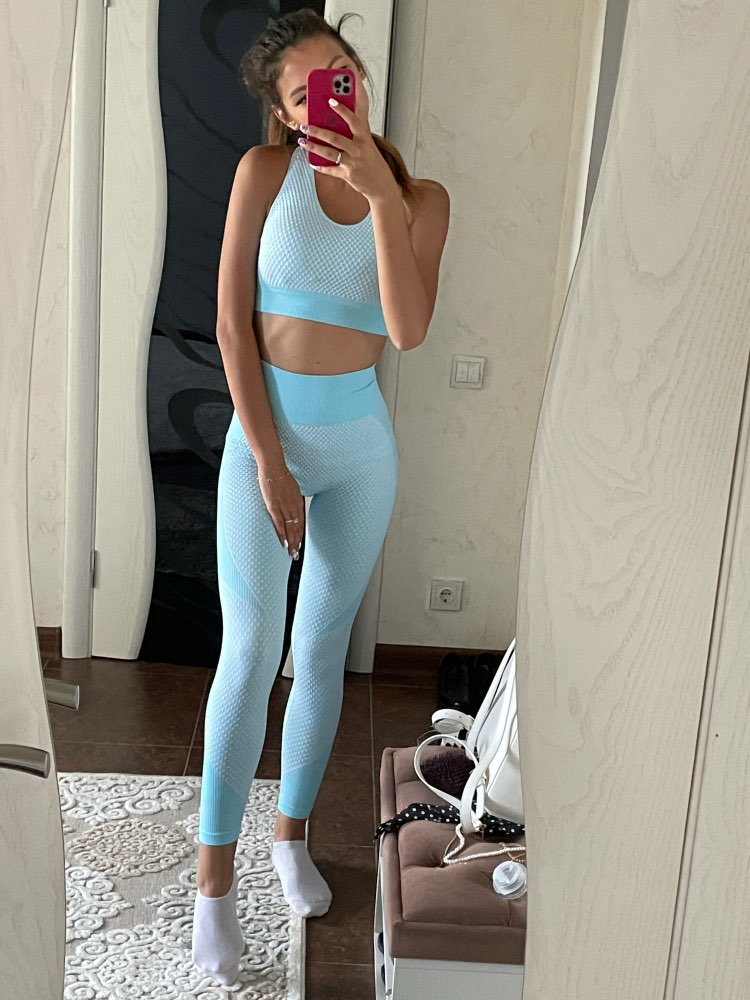 Women's Yoga Top With Seamless Leggings for Women photo review