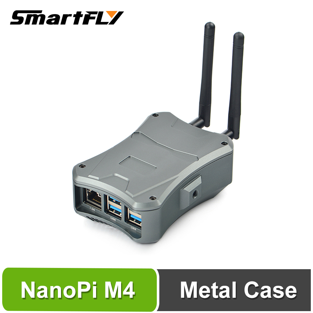 Smartfly FriendlyElec NanoPi M4/ NanoPi M4V2 Metal Case W/ Cooling Fan