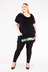 Leggings artessa plus size, to the ankle, from viscose.