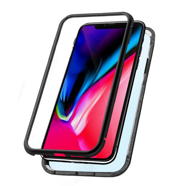Mobile cover Iphone Xs Max Magnetic (2 pcs) Black|  - title=