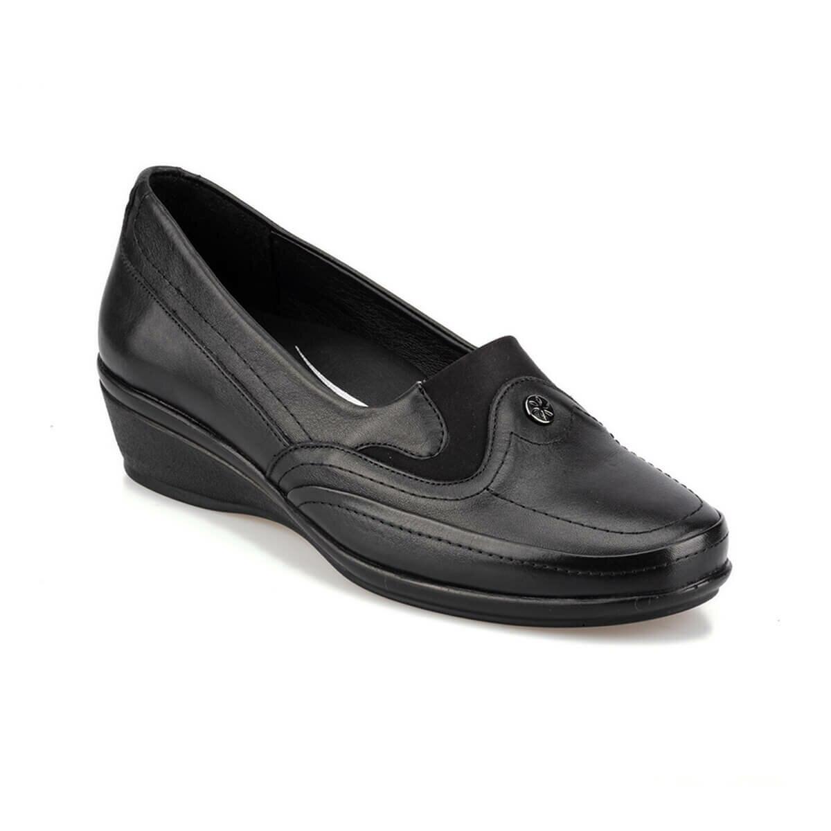 FLO 92.101026.Z Black Women 'S Wedges Shoes Polaris 5 Point