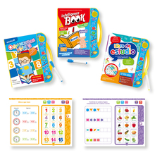 Montessori Educational Children's Books In Spanish Russian To Read Didactic Language Learning Machine Electronic Books Kids Toys